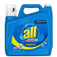 Deals on 3 All Ultra Stain Lifter HE Liquid Laundry Detergent 150oz + $10 GC