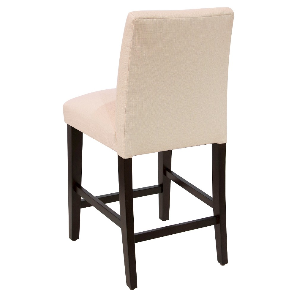"Image of ""26"""" Tapered Counter Stool with Buttons Klein Ivory - Skyline Furniture"""