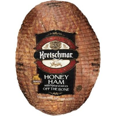 Kretschmar Honey  Ham Off the Bone - priced per lb