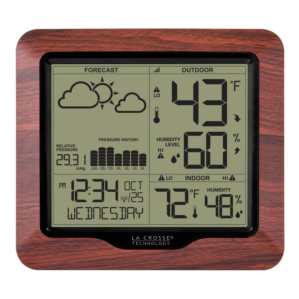La Crosse Technology Wireless Weather Station with Forecast, Atomic Time, and Backlight La Crosse Technology Wireless Weather Station with Forecast, Atomic Time, and Backlight