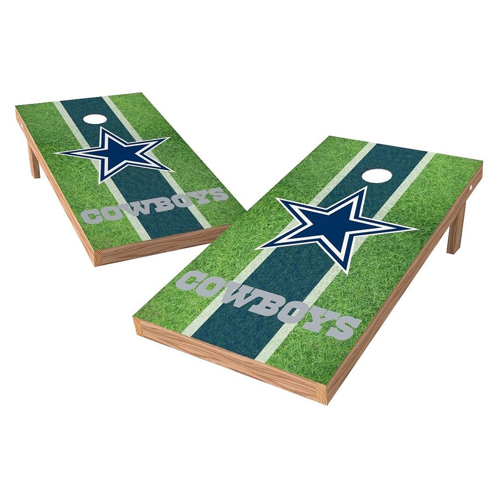 Dallas Cowboys Wild Sports XL Shield Field Cornhole Bag Toss Set - 2x4 ft.