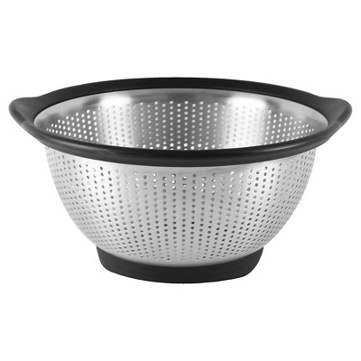 KitchenAid 3 Quart Colander Stainless Steel Black Rim