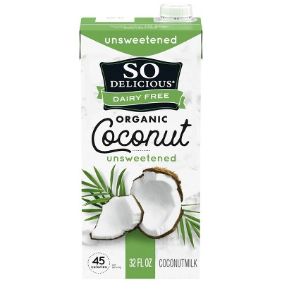 So Delicious Dairy Free Coconut Milk Unsweetened - 32 fl oz