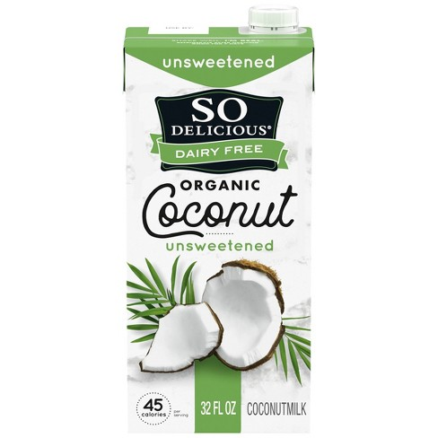 So Delicious Dairy Free Coconut Milk Unsweetened - 32 fl oz - image 1 of 4