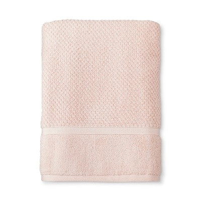 Bath Towel Performance Texture Bath Towels And Washcloths Porcelain Pink - Threshold™