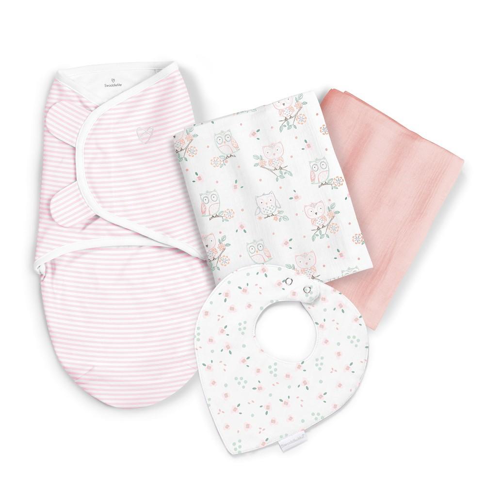 Image of SwaddleMe Sweet Dreams Swaddle Blanket Gift Set - Owl Garden, Pink
