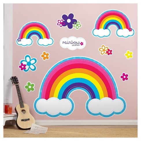 Rainbow Wishes  Wall Decal - image 1 of 1