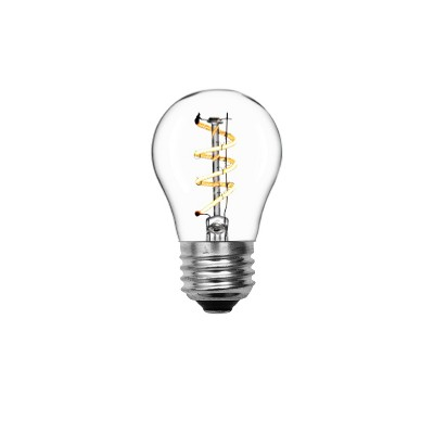 General Electric VintaA15 Ceiling Fan Spiral Clear LED Light Bulb White