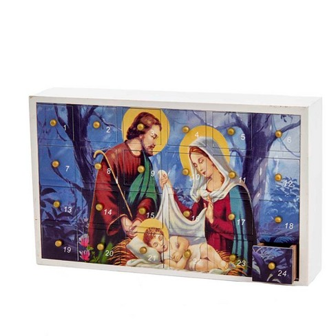 Wooden Holy Family Advent Calendar - image 1 of 1