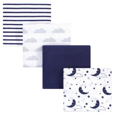 Hudson Baby Unisex Baby Cotton Flannel Receiving Blanket - Moon One Size