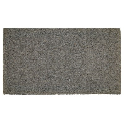 mDesign Doormat with Natural Fibers Decorative Script