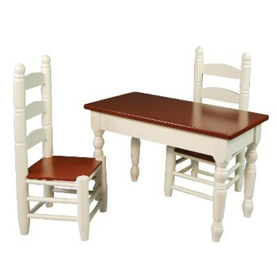 Charmant The Queenu0027s Treasures® 18 Inch Doll Furniture, Off White Wooden Farmhouse  Kitchen Table And Two Chairs : Target
