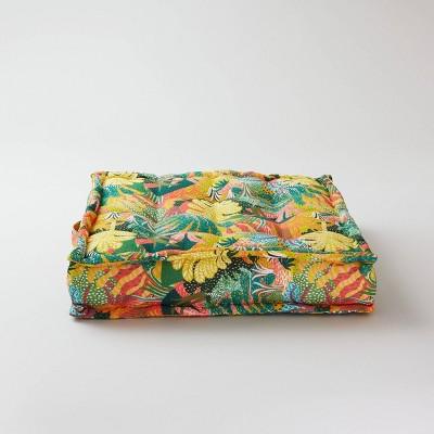 22  Square Jungle Brush Tufted Outdoor Floor Cushion - Opalhouse™