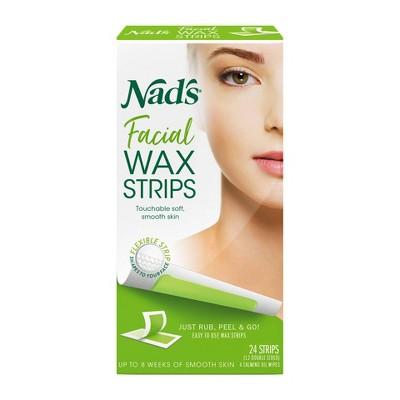Nad's Facial Wax Strips - 24ct