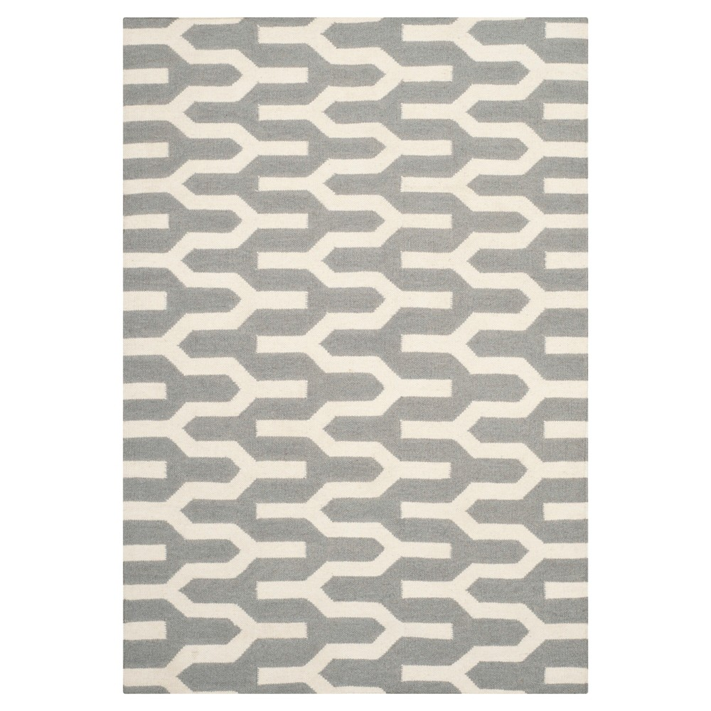 Check price Delphine Dhurry Rug - Silver Ivory - (3x5) - Safavieh