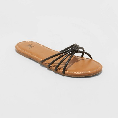 Women's Eliza Knotted Strappy Sandals - Shade and Shore™