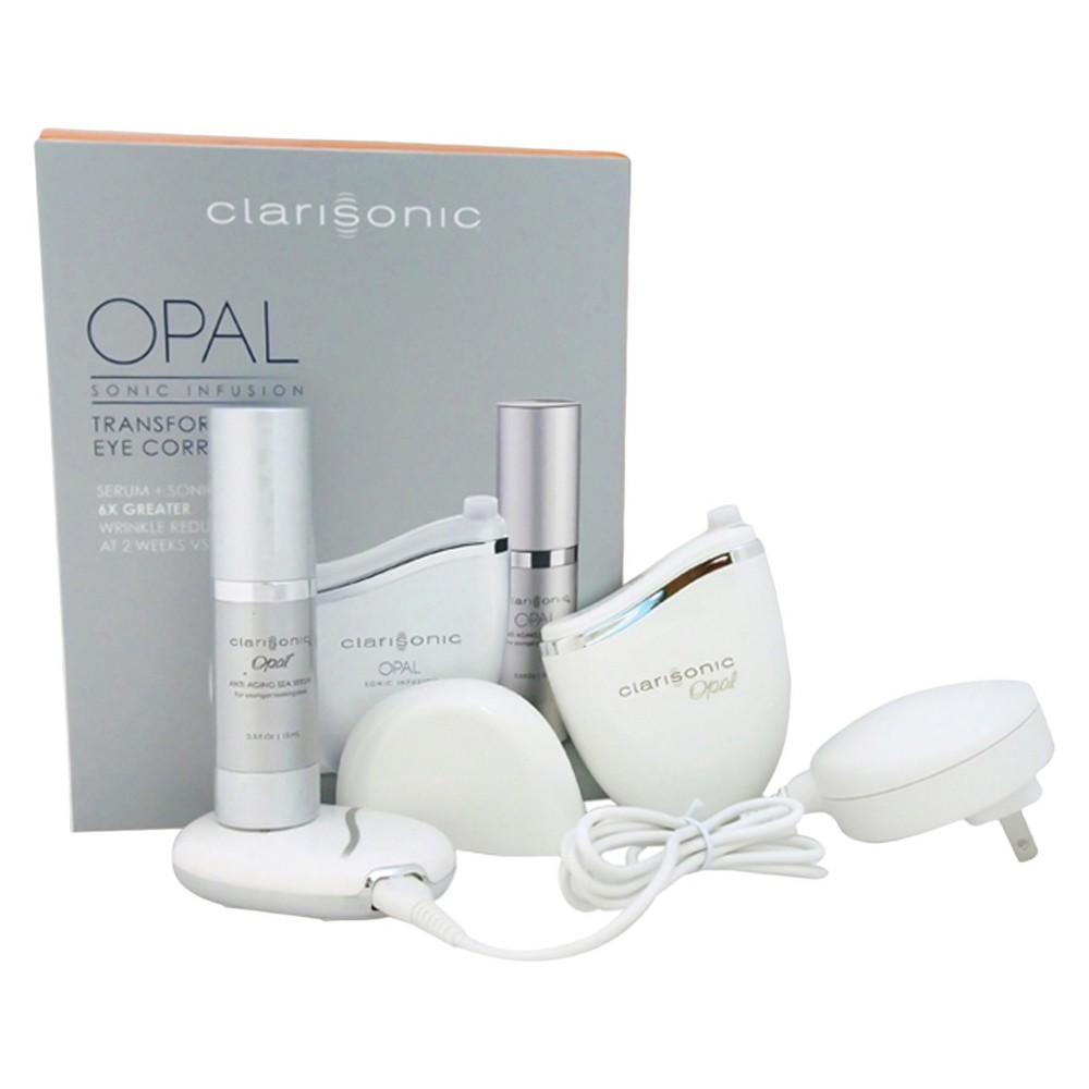 Clarisonic Opal Sonic Skin Infusion Technology for Anti-Aging System - White - 4pc kit