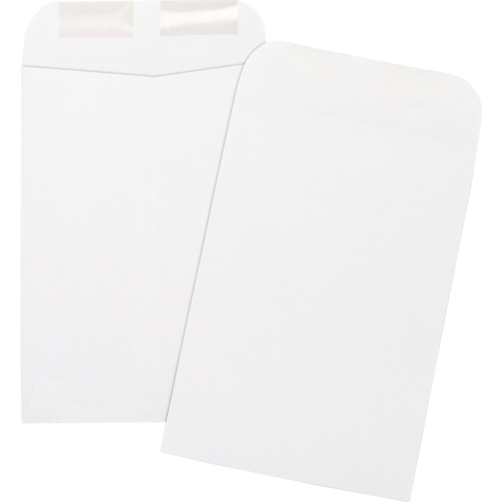 Image of Business Source 500ct Durable Open-End Catalog Envelopes, White