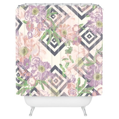 Khristian A Howell Bouquet Shower Curtain Rose - Deny Designs