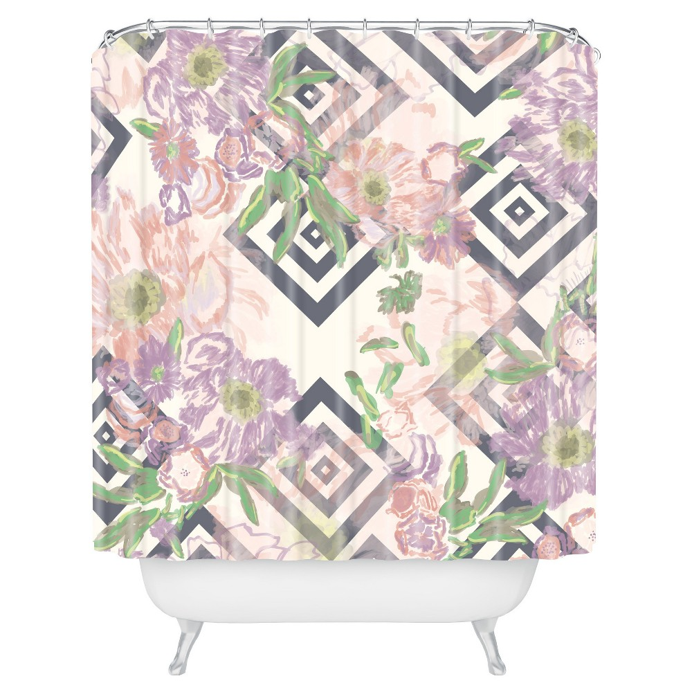 Image of Khristian A Howell Bouquet Shower Curtain Rose - Deny Designs, Tea Rose