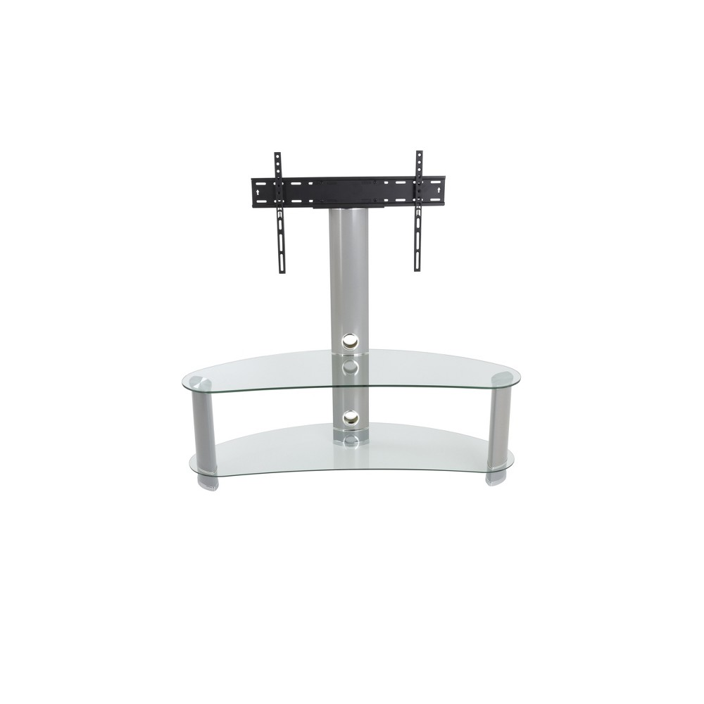 65 34 TV Stand with TV Mount Clear