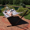 Quilted Double Fabric Hammock and 15' Stand- Ocean Isle - Sunnydaze Decor - image 4 of 4