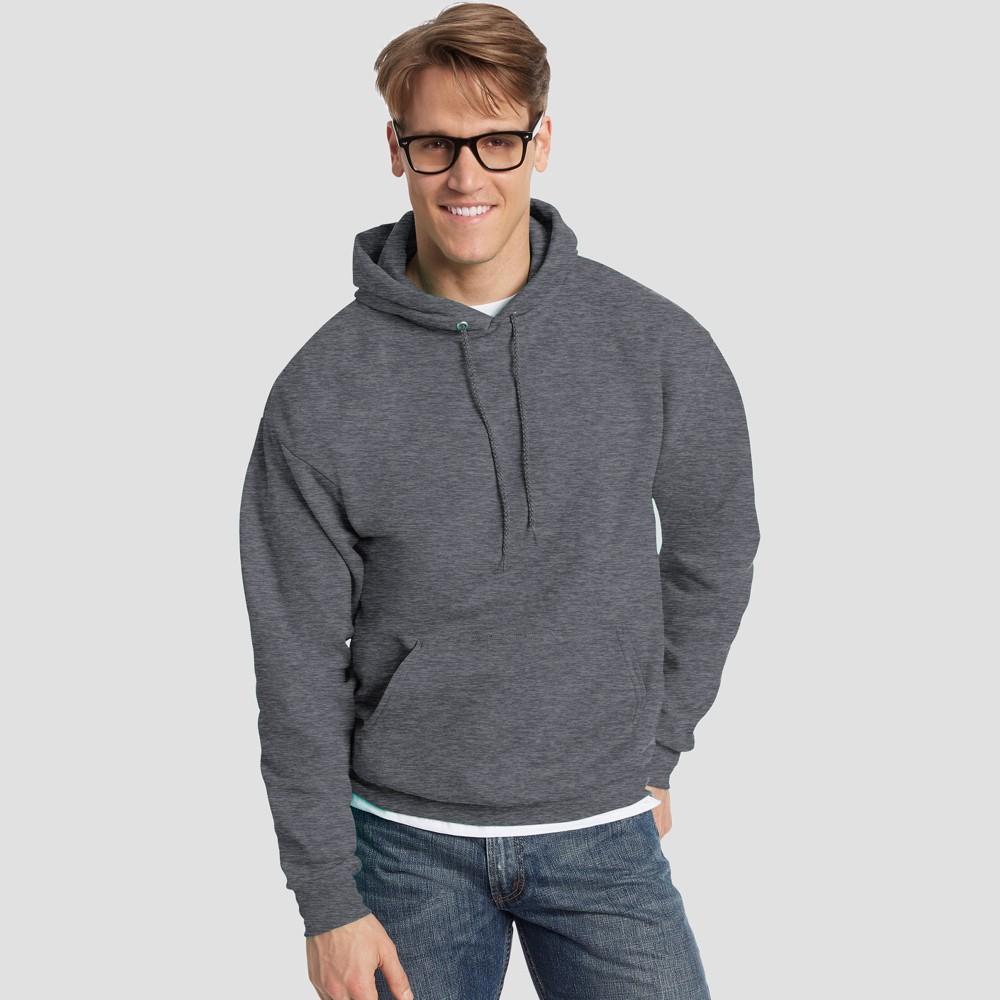 Hanes Men's Big & Tall EcoSmart Fleece Pullover Hooded Sweatshirt - Charcoal Heather 3XL