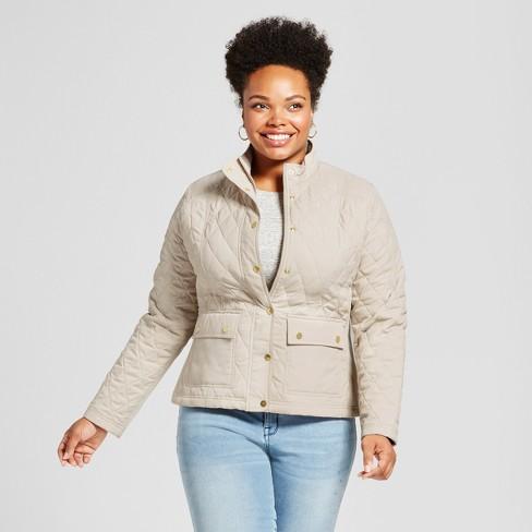 Women S Plus Size Quilted Jacket Ava Viv Cream 1x