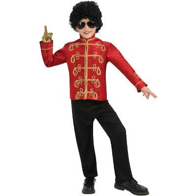 Michael Jackson Michael Jackson Deluxe Red Military Jacket Child Costume