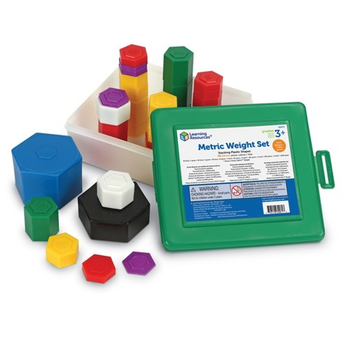 Learning Resources Weight Pax Metric Weights, Set of 58 with Box - image 1 of 4