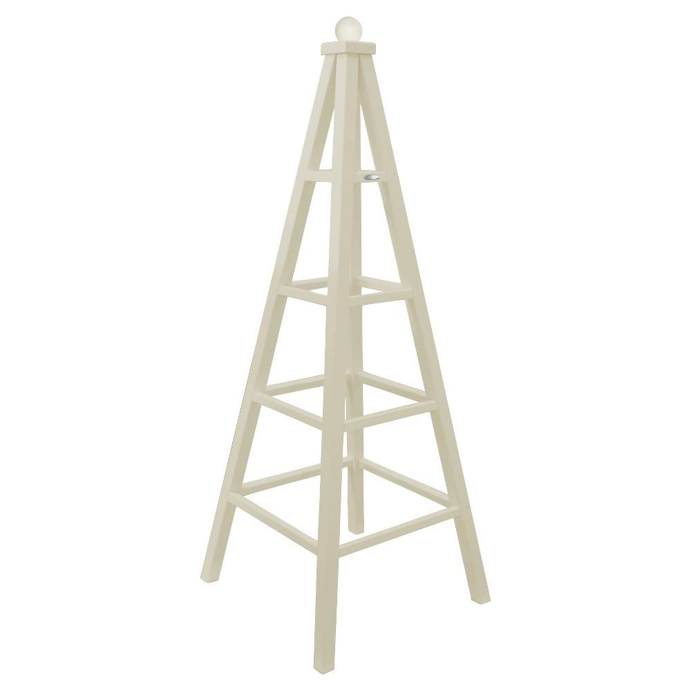 Obelisk Plant Stand Wood - White - Esschert Design