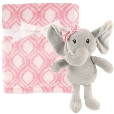 Hudson Baby Unisex Baby Plush Blanket with Toy - Elephant One Size
