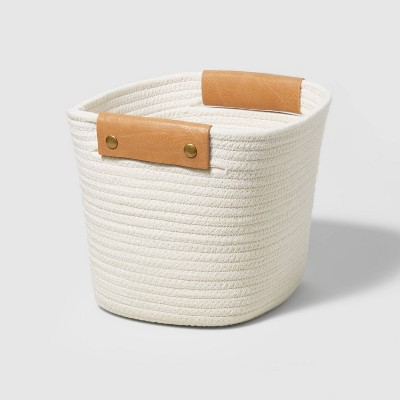 """11"""" Decorative Coiled Rope Basket - Threshold™"""