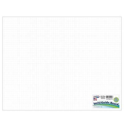 """22""""x28"""" Invisi-Guide Poster Board White - ArtSkills"""