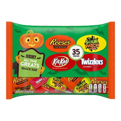 Reese's, KitKat, Twizzlers, Sour Patch Halloween Candy Variety Pack - 15.89oz/35ct