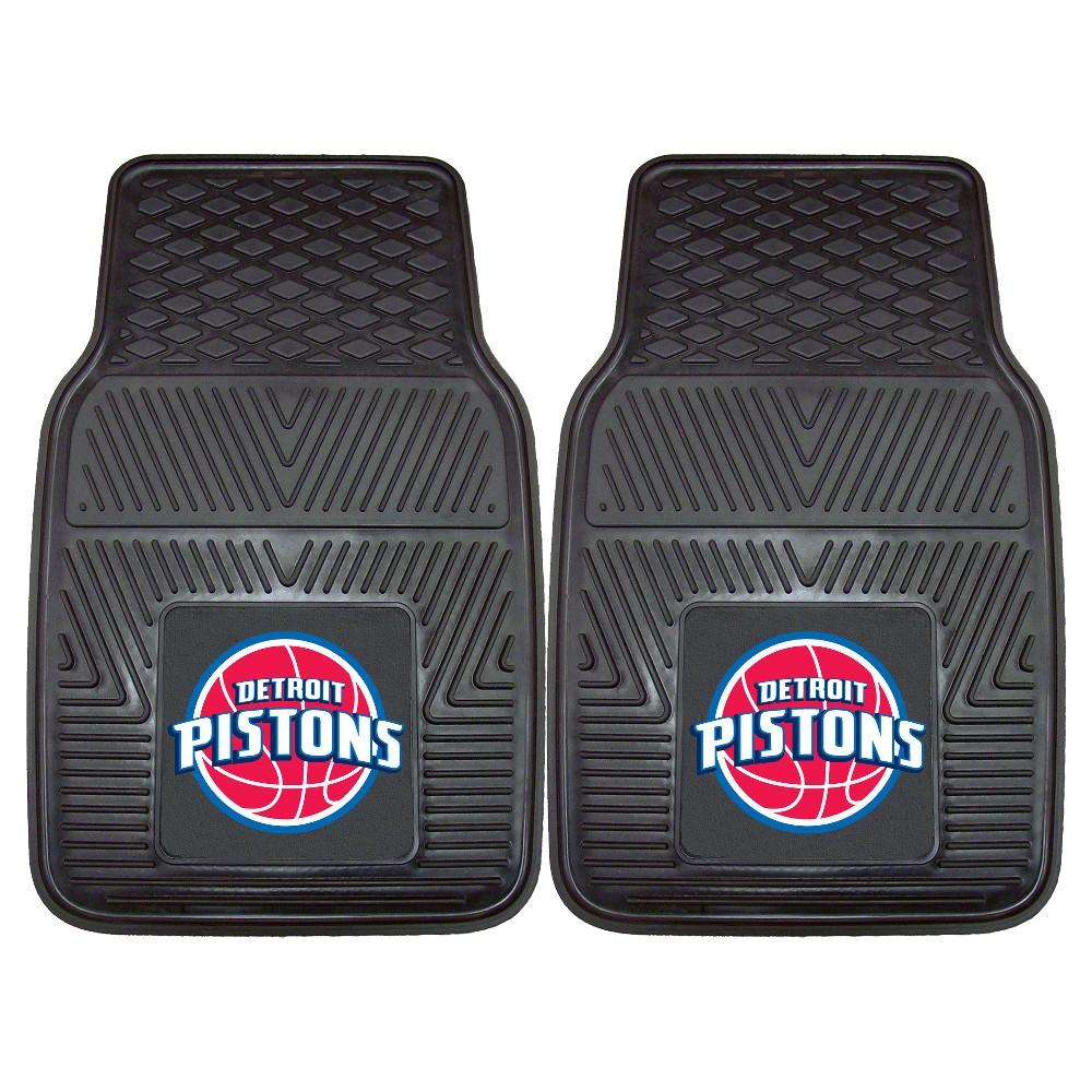 NBA Detroit Pistons 2pc Vinyl Car Mats 17