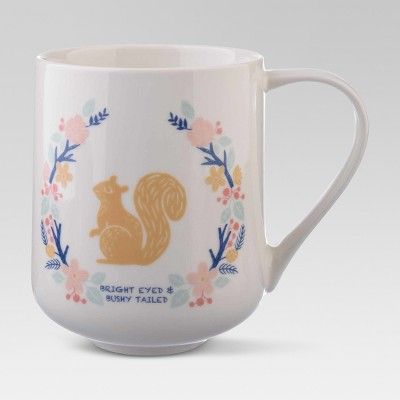 Porcelain Bright Eyed & Bushy Tailed Mug 18oz White - Threshold™