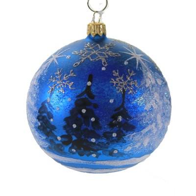 "Christina's World 4.0"" Pine Tress In The Midnight Blue Ornament Star Snowflake Ball  -  Tree Ornaments"