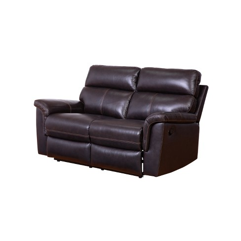 Pleasant Maxwell Top Grain Recliner Leather Loveseat Brown Abbyson Living Unemploymentrelief Wooden Chair Designs For Living Room Unemploymentrelieforg