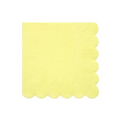 Meri Meri Pale Yellow Large Napkins