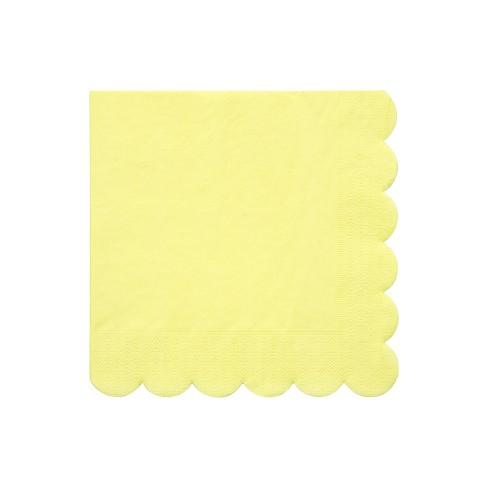 Meri Meri Pale Yellow Large Napkins - image 1 of 2