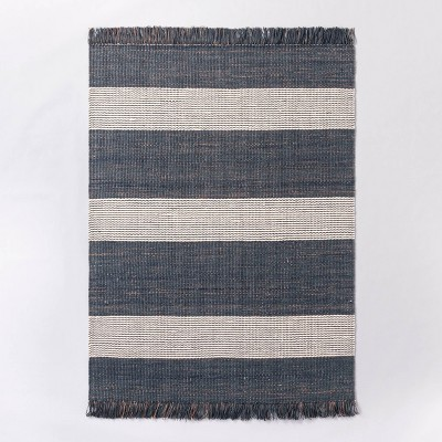 Highland Hand Woven Striped Jute Wool Area Rug Blue Threshold Designed With Studio Mcgee Target