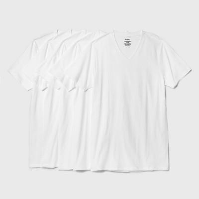 Men's Short Sleeve 4+1 Bonus Pack V-Neck T-Shirt - Goodfellow & Co™ White