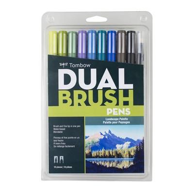 Tombow 10ct Dual Brush Pen Art Markers - Landscape