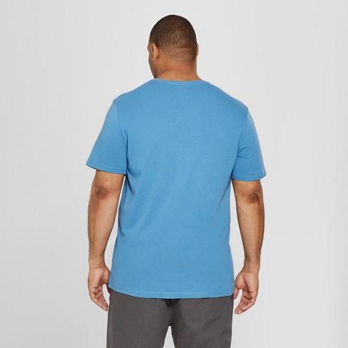 eee71ad21389 Men's Big & Tall Short Sleeve V-Neck T-Shirt - Goodfellow & Co™ Blue Beam