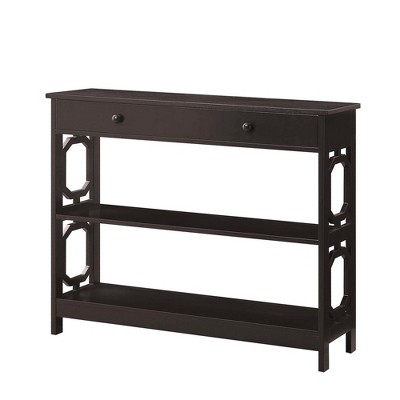 Omega 1 Drawer Console Table Espresso - Breighton Home