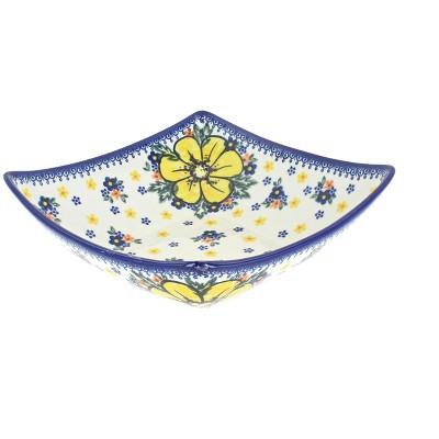 Blue Rose Polish Pottery Buttercup Square Serving Dish