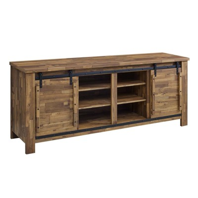 "70"" Cheshire Rustic Sliding Door Buffet Table Sideboard Walnut - Modway"