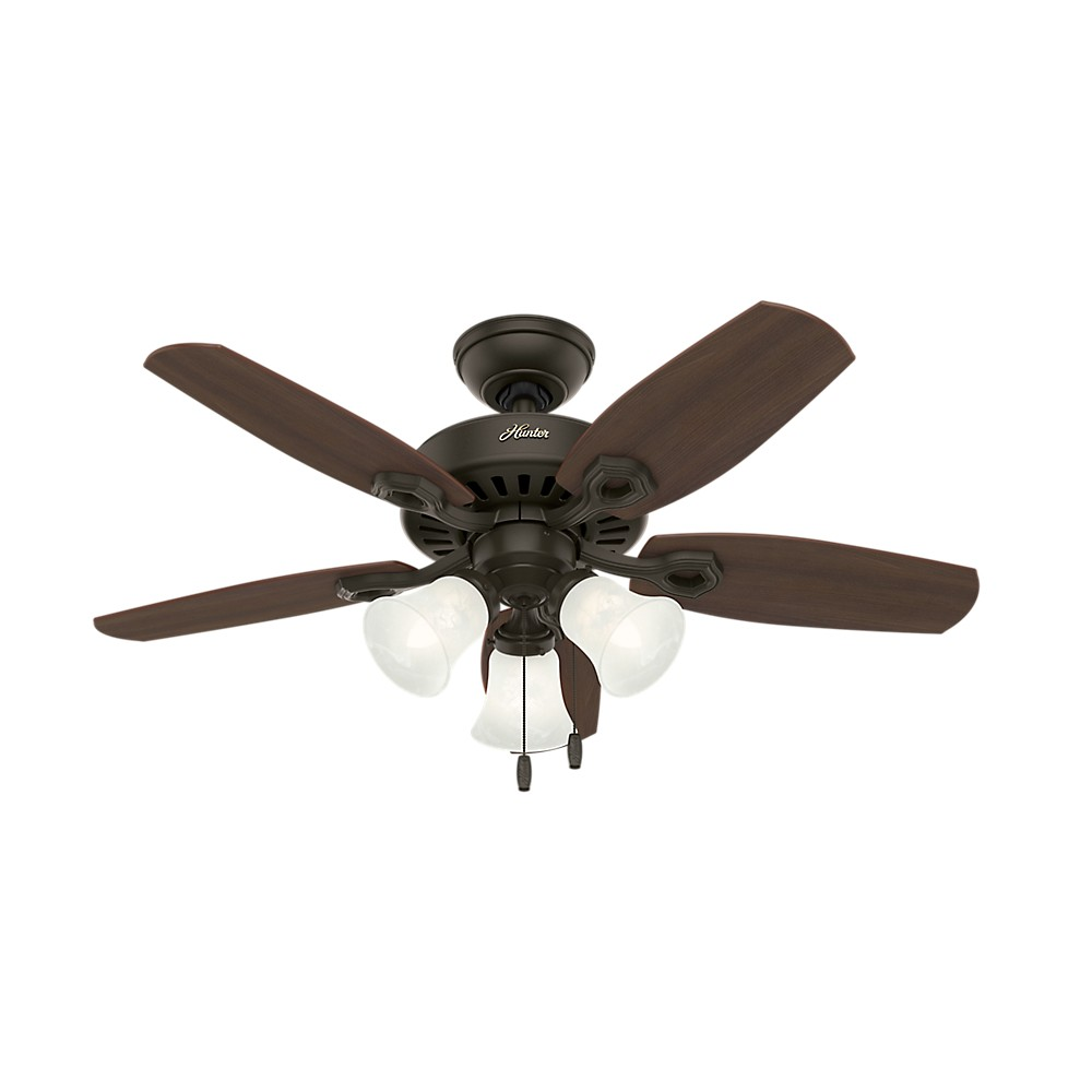 Image of 42 Builder Small Room Lighted Ceiling Fan Bronze - Hunter Fan