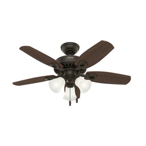 "42"" Builder Small Room LED Lighted Ceiling Fan Bronze - Hunter Fan - image 1 of 4"
